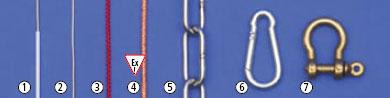 Погружные тросы, цепи и карабины Bürkle